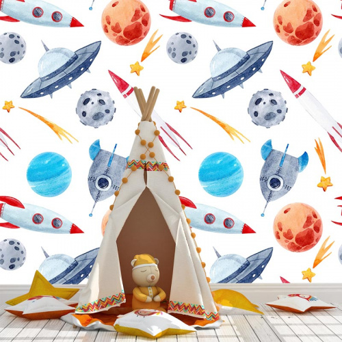 Carta da parati UFO e astronavi