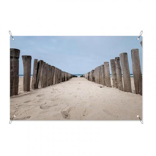 Poster da giardino Palizzata nella spiaggia