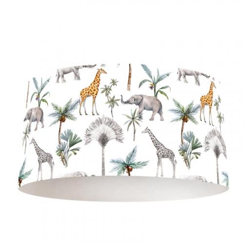 Paralume Elefanti e giraffe disegnati