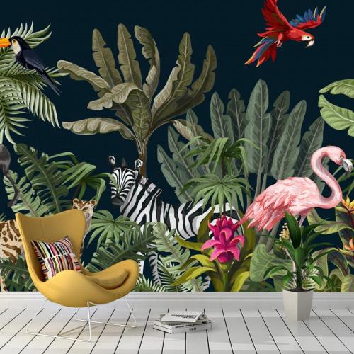 Carta da parati Animali della giungla