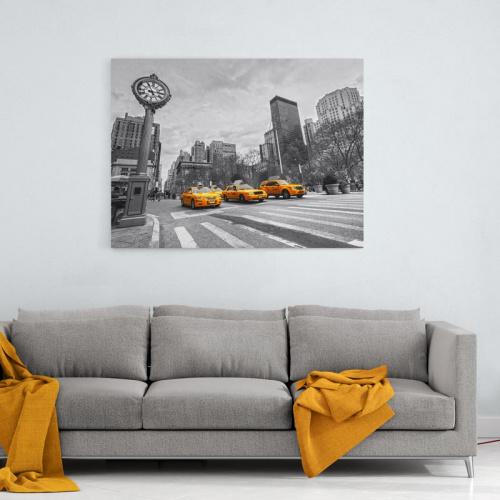 Tela Taxi di New York di fila