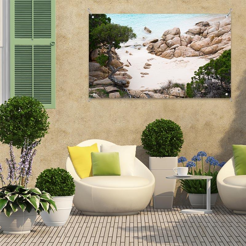 Poster da giardino Spiaggia mediterranea
