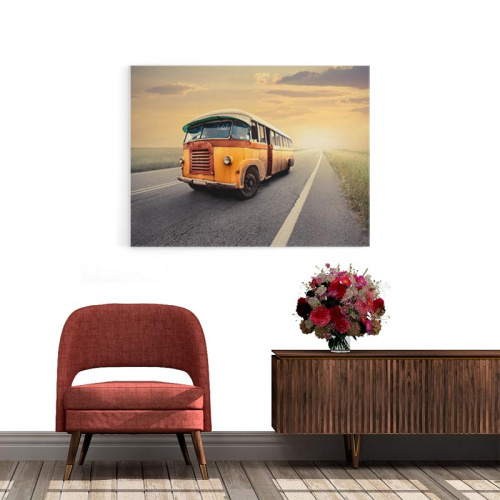 Canvas Bus oldtimer