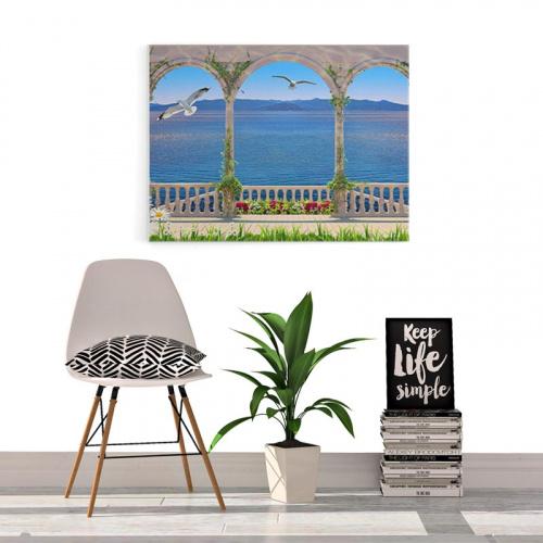 Canvas Fantastisch uitzicht op zee
