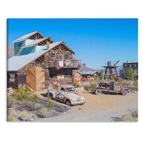 Canvas Verlaten dorp in woestijn