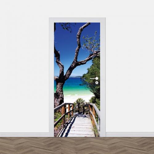 Adesivo per porta Verso la spiaggia