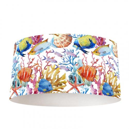 Paralume Pesci tropicali acquerello