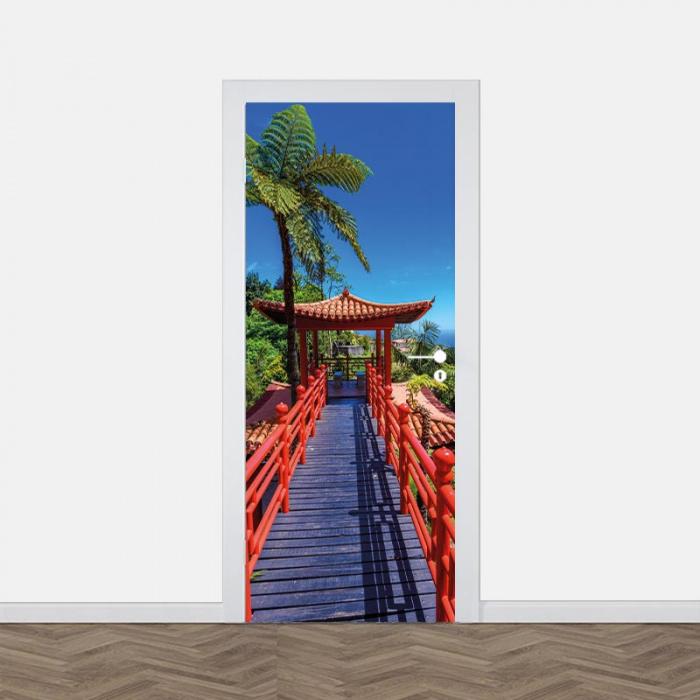 Adesivo per porta Ponte giapponese