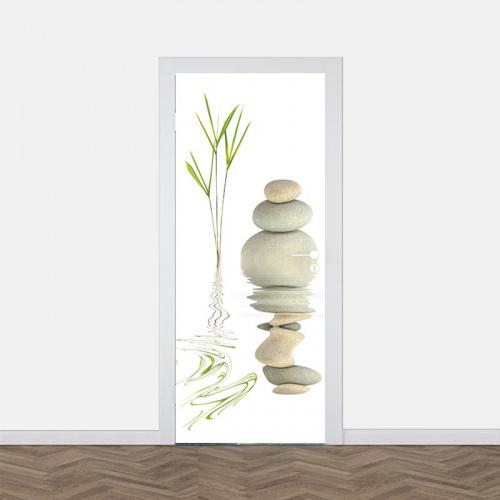 Adesivo per porta Sassi zen