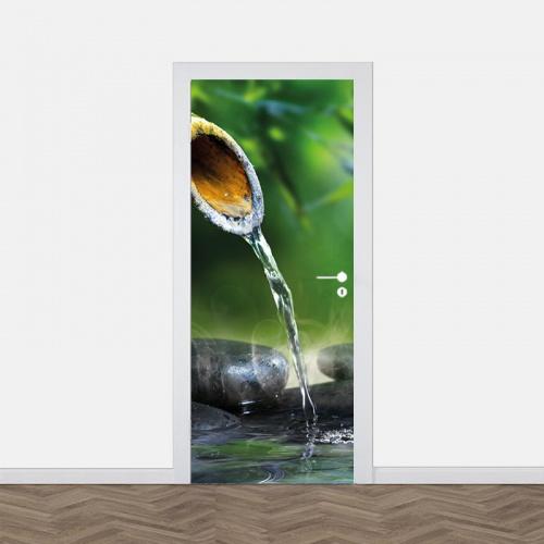 Adesivo per porta Acqua rilassante