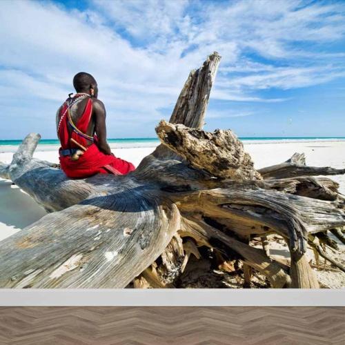 Masai in spiaggia